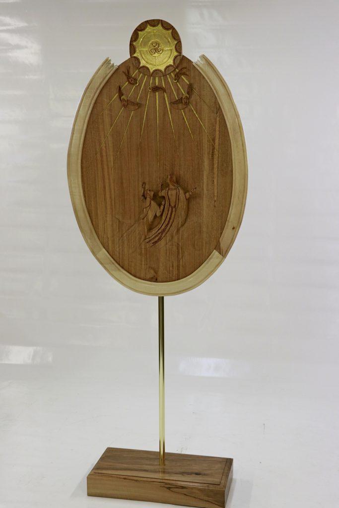 Arcana arcanorum (le secret des secrets) - Bas relief chêne et sycomore dim 1160x800x650