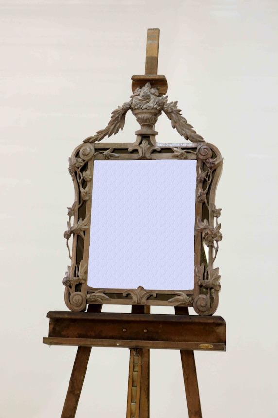 Miroir style Louis XV en noyer 860x500x65