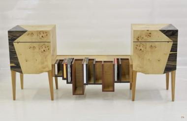 MEUBLE BIBLIOTHEQUE BANQUETTE